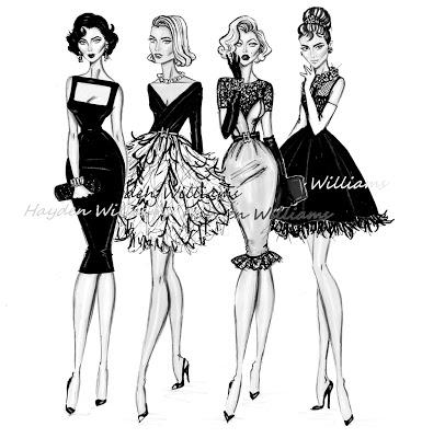 Liz Tayloy, Grace Kelly, Marilyn Monroe & Audrey Hepburn