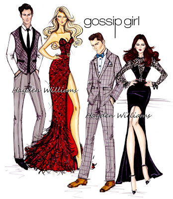 Dan, Serena, Chuck and Blair from Gossip Girl